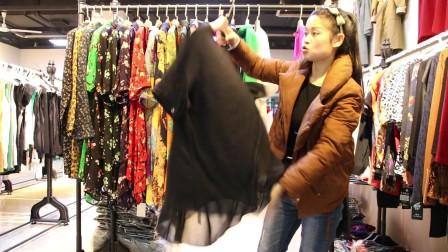 精品女装批发服装批发女士时尚春夏秋款连衣裙大版衫20件起批,可挑款零售混批