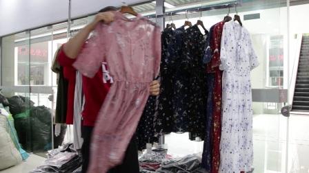 精品女装批发服装批发女士时尚夏款女士精品连衣裙走份20件一份