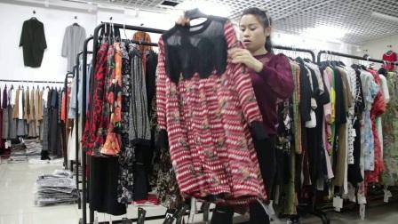 精品女装批发服装批发女士时尚春夏秋款精品长袖连衣裙20件起批,可挑款零售混批