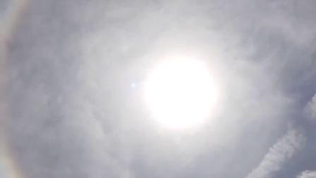 昆明太阳出现奇光