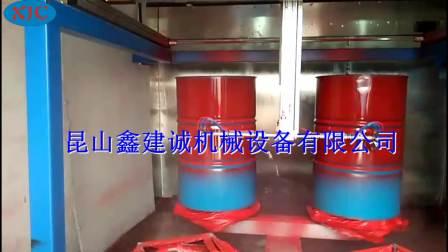 五轴四盘喷漆机-油桶表面喷涂机-自动喷漆设备厂家-鑫建诚自动化