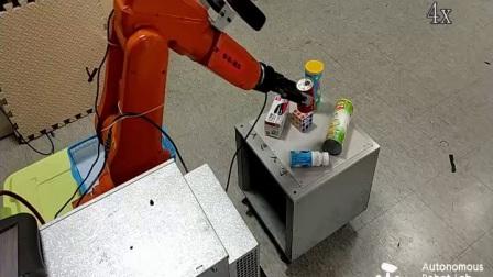 随意杂乱摆放物体的机器人视觉抓取