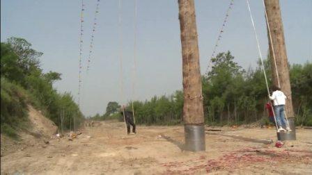 合阳县南社秋千传承发展有限公司制作的20.16米高度的秋千是世界上最高的木质秋千