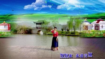 舞痴广场舞藏舞《走进西藏》演唱李娜编舞无名老师正反面演绎舞痴摄像老七制作新疆花儿