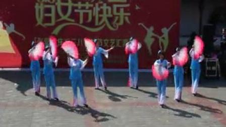 张郭镇全民健身舞扇子舞红梅赞
