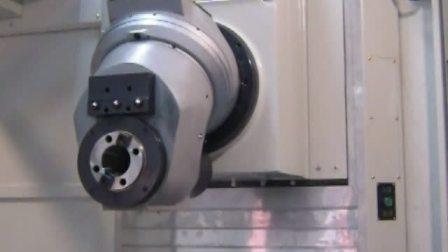 台湾新卫卧式五面体加工中心EBM-2150自动铣头;立卧转换1度等分360度