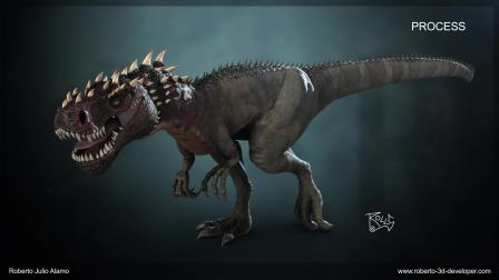 Tarbosaurus - 3D Model and Rigging - by Rolls3D 2018