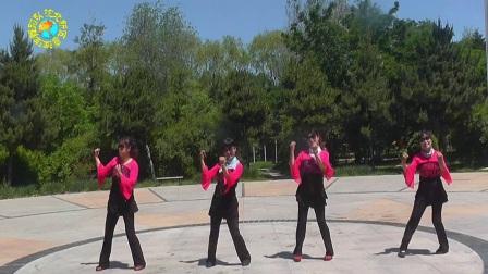 沈北新区喜洋洋广场舞-美丽的遇见4人.mp4