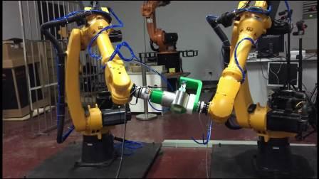 20180402  双机器人变姿态拼接测试
