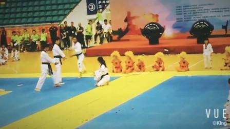 2018年首届西湖区跆拳道邀请赛开幕式表演片段2