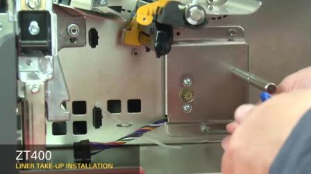 ZT400 底纸回卷器的安装(英语无字幕)