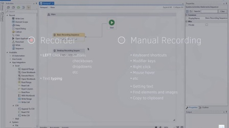 Macro Recording and UI Automation Wizards - UiPath 2.1