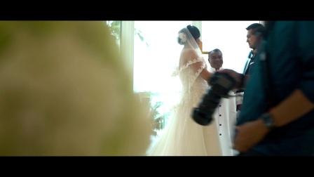 夏威夷蓝天白沙滩婚礼全程【夏威夷假日婚礼公司出品】