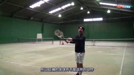 我在发球/平击发球截了一段小视频