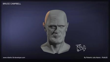 Bruce Campbell - 3D Portrait - by Rolls3D 2018