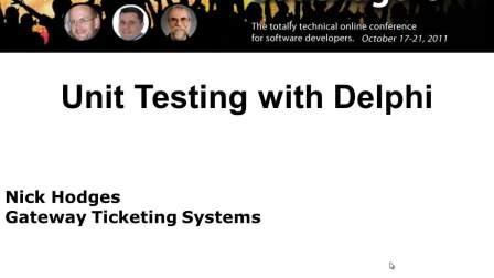 用Delphi进行单元测试
