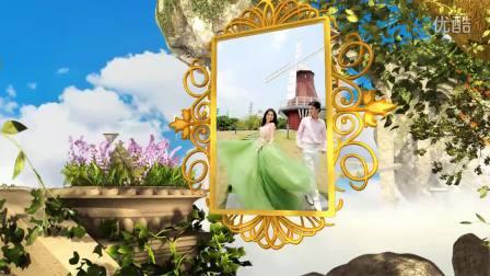 拉普达之恋加长版依恋园高清婚礼开场视频3D电子相册制作