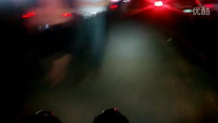 OdePro B108双开关强光手电筒 夜骑体验