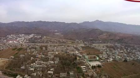 航拍丹凤县商镇全景