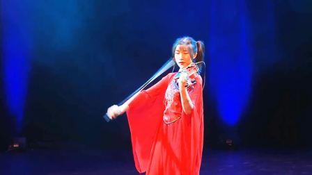 功夫熊猫主题曲 小提琴版 Lisa美女小提琴在法国演出 中国汉服