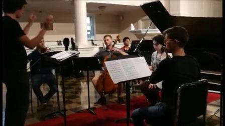 卢长剑作曲家-《在时间与垂直空间中的舞蹈》 大西洋音乐节排练(一)