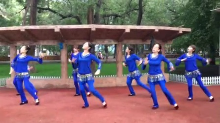哈尔滨市金色阳光广场舞【山谷里的思念】-团队表演-录制-王金丽