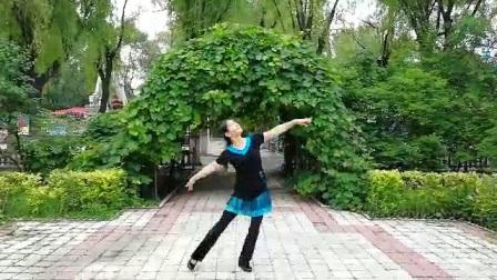 哈尔滨市金色阳光广场舞【蒲公英的翅膀】表演-金色阳光-录制-婧婧