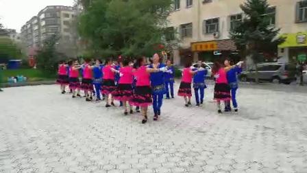 哈尔滨市金色阳光广场舞【探戈】团队表演-录制-婧