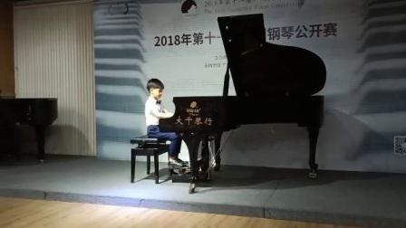 2018第十一届广州钢琴公开赛 学前音乐会组 张轩瑞 指导老师:曲强