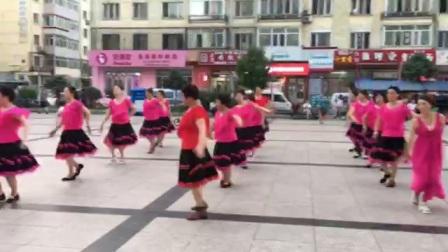 哈尔滨市金色阳光广场舞【三步-忧伤的华尔兹】团队表演-录制-王金丽