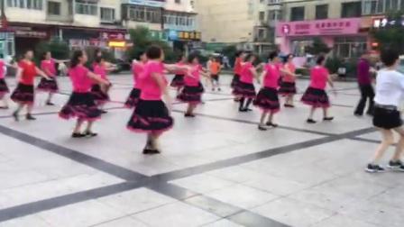哈尔滨市金色阳光广场舞【中三步-月亮的女神】团队表演-录制-王金丽