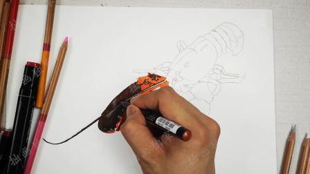 拙画一刻半: 彩铅手绘3D超写实澳洲大龙虾, 快来了解一下!