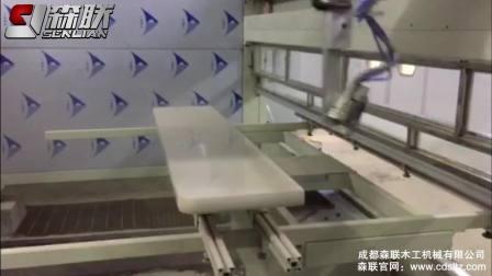 TSP-W PU白亮光电视柜底板 新系统五轴喷涂
