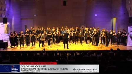 Kyddo by Philippe Geiss - D´Addario Saxophone Ensemble & Rosario Giuliani