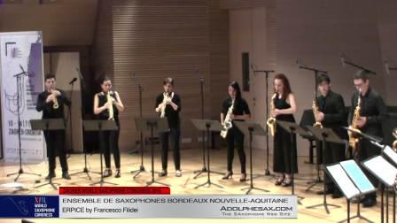 ERPICE by Francesco Filidei - Ensemble de Saxophones Bordeaux Nouvelle-Aquitaine