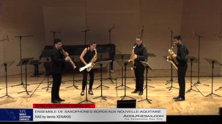 XAS by Iannis Xenakis - Ensemble de Saxophones Bordeaux
