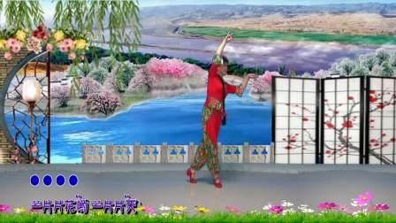 政务中心紫竹广场舞《小调情歌桃花红》