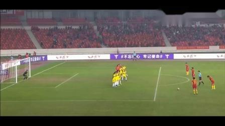 中国女足2-0哥伦比亚, 王霜鬼魅任意球加速下坠, 门将看楞了