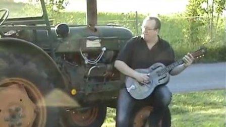 Republic Guitars丽声吉他演奏分享 Delta Tractor Blues Jam - Victor the tractor.