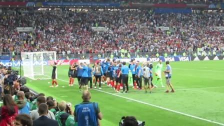 【看台视角】克罗地亚2-1英格兰,克罗地亚队赛后庆祝