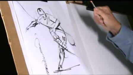 Paul Trevillion on how to draw Franck Ribéry and Luka Modric -卫报2011