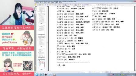 【葉子先生】《标准日本语--中级》第11课上