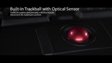 Adesso Tru-Form 3500 – 2.4 GHz Wireless Ergonomic Trackball Keyboard