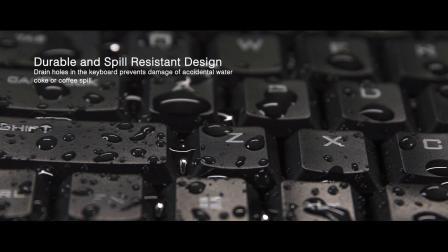 WKB-1100CB – Wireless Spill Resistant Mini Keyboard & Mouse Combo