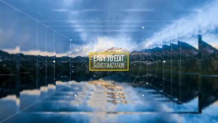 XH0260 AE模板 切割 三维 叠层 图片 展示 摄影 旅游 大气 宣传片头 开场