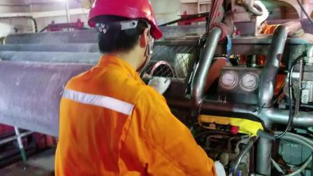 德平科技20英寸CRA复合管坡口机在卡塔尔NFA WHP3项目中的现场使用情况