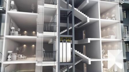 西奥电梯现代化更新美佳加装梯服务片