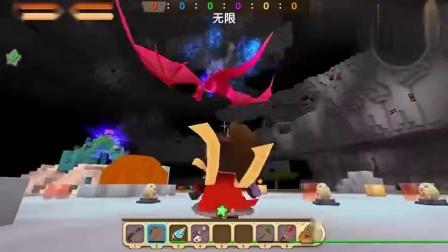 迷你世界:带着附魔的龙骨弓能不能秒杀地狱黑龙