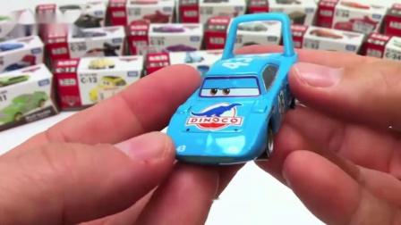 日本多美卡tomica汽车总动员盒装麦昆板牙合金车模男孩玩具小车赛车总动员合金车拆封