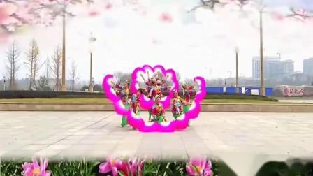 广场舞在那桃花盛开的地方 红红火火原创扇子舞
